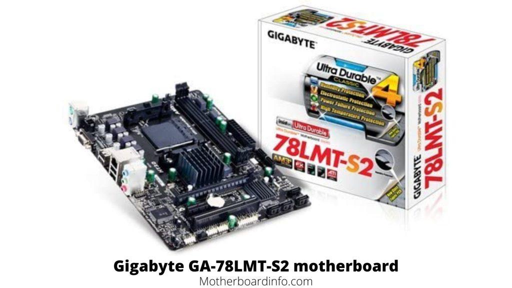 Gigabyte GA 78LMT S2 motherboard